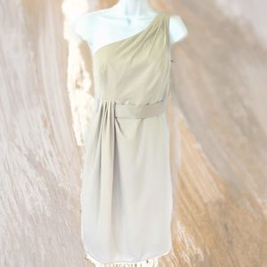 WHITE VERA WANG One Shoulder Cocktail Dress NWT